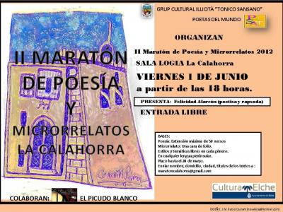 II Maratón de Poesía y Microrrelatos La Calahorra