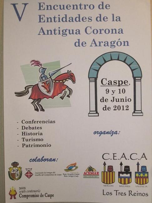 V Encuentro de Entidades de la Antigua Corona de Aragón (2012)
